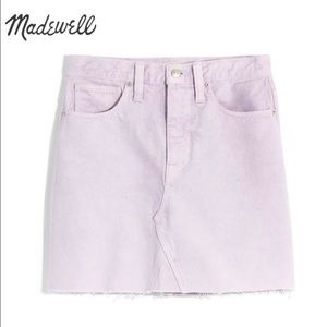 Madewell lilac mini skirt new with tags